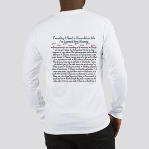 Running's Life Lessons Long Sleeve T-Shirt