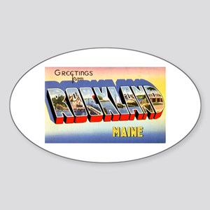 Rockland Maine Greetings Oval Sticker