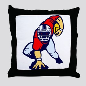 American Football 0002 Throw Pillow