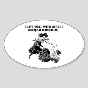 Fabric Sales Oval Sticker