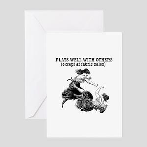Fabric Sales Greeting Card