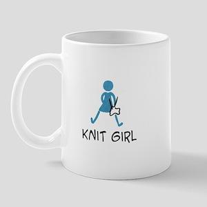 Retro Knit Girl Mug