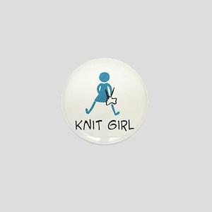 Retro Knit Girl Mini Button