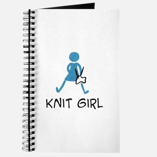 Retro Knit Girl Journal