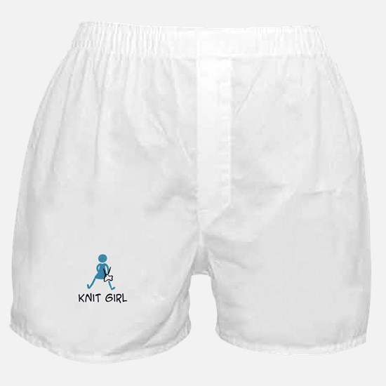 Retro Knit Girl Boxer Shorts
