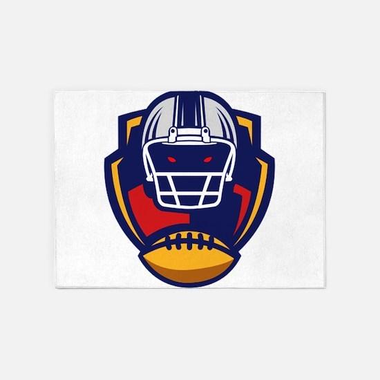 American Football 0004 5'x7'Area Rug