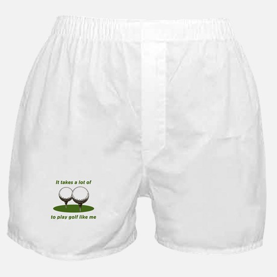 It Takes Balls To Play Golf L Boxer Shorts