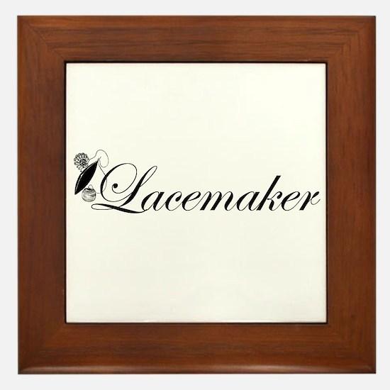 Lacemaker - Tatting Framed Tile