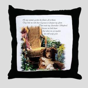 Australian Shepherd Art Throw Pillow