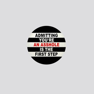 AA The First Step is... Mini Button
