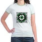 SHAMROCK DESIGN 1 Jr. Ringer T-Shirt