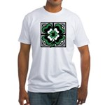 SHAMROCK DESIGN 1 Fitted T-Shirt