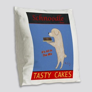 Schnoodle Tasty Cakes Burlap Throw Pillow
