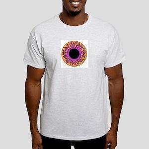 Purple & Orange Flame Eyeball Ash Grey T-Shirt