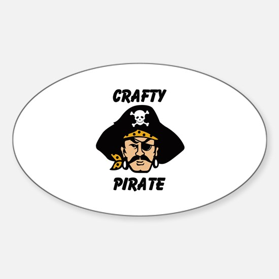 Crafty Pirate - Arts and Craf Oval Decal