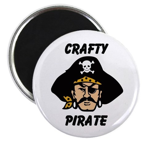"""Crafty Pirate - Arts and Craf 2.25"""" Magnet (10 pac"""
