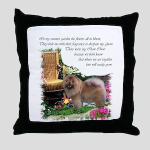 Chow Chow Art Throw Pillow