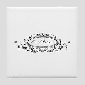 Cross Stitcher - Victorian Tile Coaster