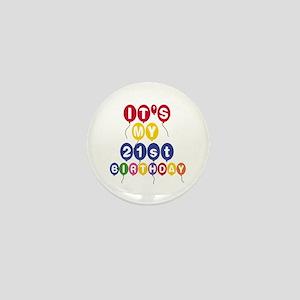 Balloons 21st Birthday Mini Button