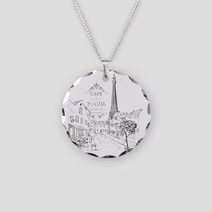 Cafe Paris Necklace Circle Charm