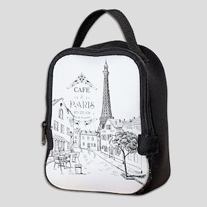 Cafe Paris Neoprene Lunch Bag