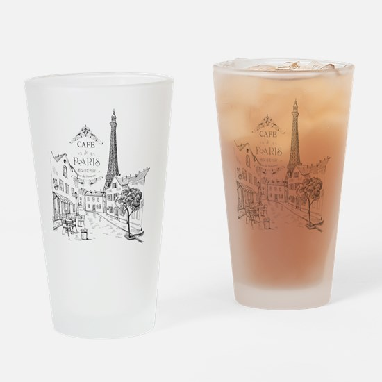 Cafe Paris Drinking Glass