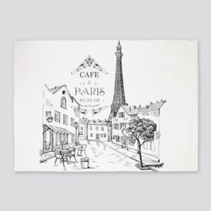 Cafe Paris 5'x7'Area Rug