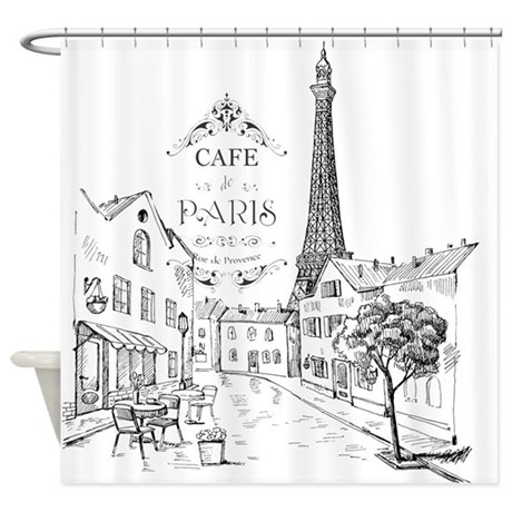 Cafe Paris Shower Curtain By Admin CP59133934