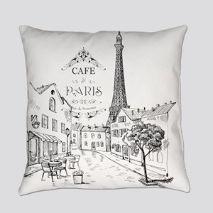 Cafe Paris Everyday Pillow