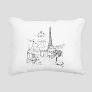 Cafe Paris Rectangular Canvas Pillow
