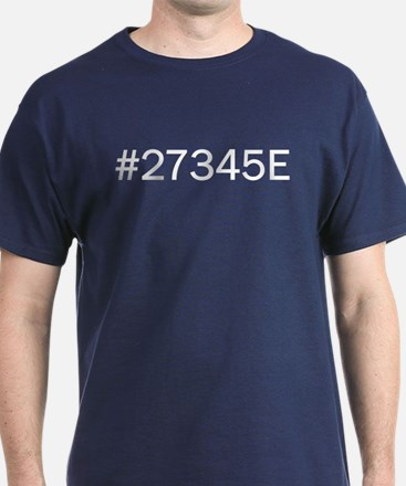 Hex Color #27345E Dark Blue T-Shirt