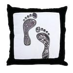Foot Traffic Throw Pillow