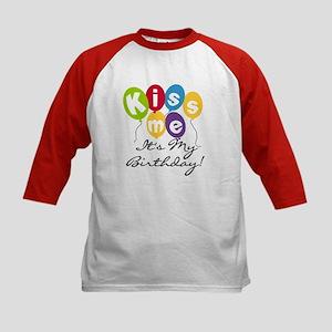Kiss Me Birthday Kids Baseball Jersey