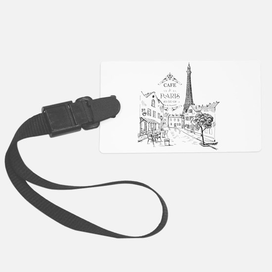 Cafe Paris Large Luggage Tag