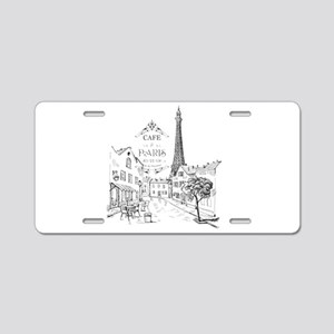 Cafe Paris Aluminum License Plate