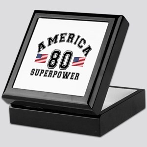 America 80 Super Power Birthday Desig Keepsake Box