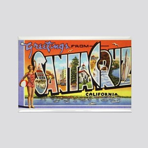 Santa Cruz California Greetings Rectangle Magnet