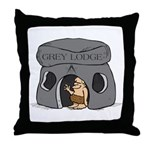 Blue Lodge goes Gray Throw Pillow