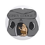 Blue Lodge goes Gray Ornament (Round)