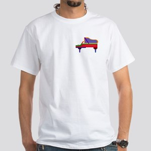 White Funky Piano T-Shirt