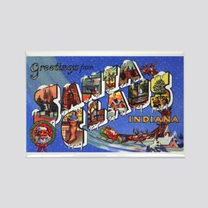 Santa Claus Indiana Greetings Rectangle Magnet