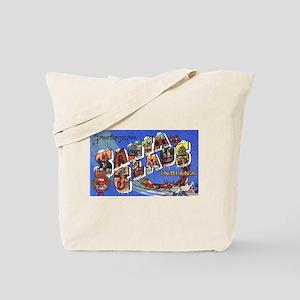 Santa Claus Indiana Greetings Tote Bag