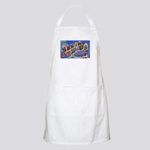 Santa Claus Indiana Greetings BBQ Apron