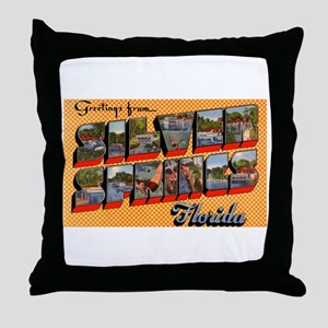 Silver Springs Florida Greetings Throw Pillow