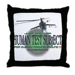 Human Test Subject Throw Pillow