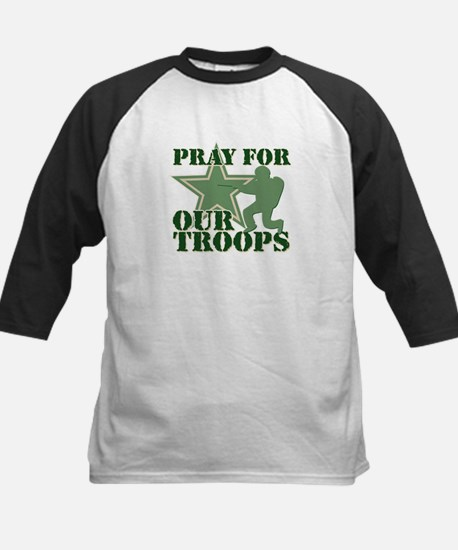 Pray for our troops Kids Baseball Jersey