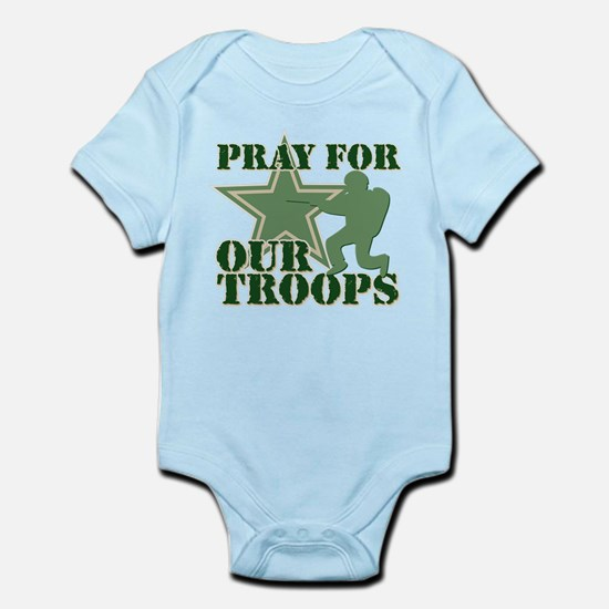 Pray for our troops Infant Bodysuit