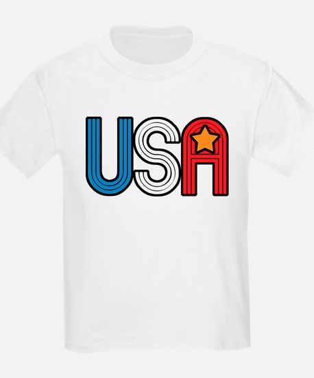 Retro USA with Star Kids T-Shirt