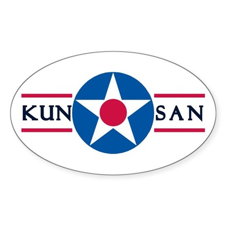 Kunsan Air Base Oval Sticker