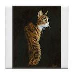 Cat in Sunlight Tile Coaster